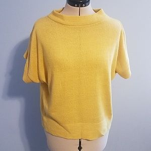 Yellow Short Sleeve Sweater